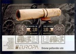 BOSNIA AND HERZEGOVINA  2020,POST MOSTAR,EUROPA CEPT, ANCIENT POSTAL ROUTES,BLOCK ,MNH - Bosnien-Herzegowina