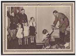 Dt.- Reich (005090) Propaganda Ganzsache P278/04 Adolf Hitler Mit Kindergruppe Blanco Gestempelt Braunau Am 20.4.1939, - Germania