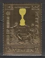 XX443 GOLD YEMEN SPORTS FOOTBALL WORLD CUP 1970 MEXICO 1ST MNH - Fußball-Weltmeisterschaft