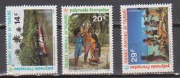 POLYNESIE    N°  YVERT  : 440/442  NEUF SANS  CHARNIERES - Französisch-Polynesien