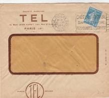 SEMEUSE 25C PERFORE TEL 26 SUR LETTRE ENTETE STE TEL PARIS 1925 - Perforés