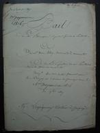 1816 Ferme De Mermont Crépy En Valois Oise Bail De Poulletier  Avec Madame Veuve Bléry (?) - Manuscritos