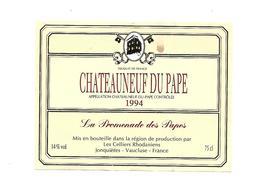 Etiquette De Vin - Chateauneuf Du Pape - La Promenade Des Papes - 1994 - Rouges