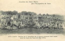 2° ZOUAVE - 2° BATAILLON - TAZA - 12 MAI 1914 - JONCTION DES DEUX MAROC - CAMPAGNE DU MAROC. - Andere Kriege