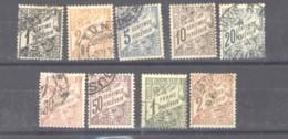 Tunisie  -  Taxes  :  Yv  26-34  (o) - Tunisie (1888-1955)