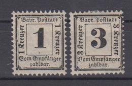Bayern Portomarken 2/3 * Ungebraucht - Bavaria