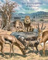 Togo 2011 Fauna  African Sahel,  Antelope , Lions - Togo (1960-...)