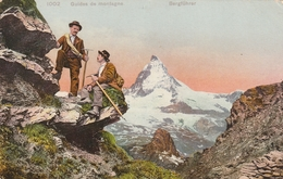 Rare Cpa Les Guides De Montagne--Bergführer - Other
