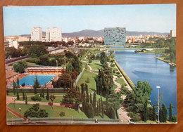 ROMA EUR Piscina Delle Rose  Il Lago Cartolina 1977  Viaggiata - Stades & Structures Sportives