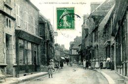 N°8956 -cpa Sourdeval La Barre -rue De L'église- - Other Municipalities