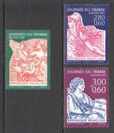 VV991 !!! ONLY ONE IN STOCK 1996-1998 FRANCE ART JOURNEE DU TIMBRE HISTORY 3ST MNH - Vereine & Verbände