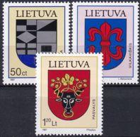 LITAUEN 1997 Mi-Nr. 652/54 ** MNH - Lithuania