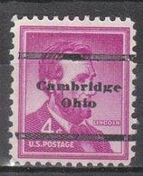 USA Precancel Vorausentwertung Preo, Locals Ohio, Cambridge L-1 TS - United States