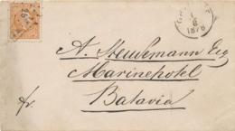 Nederlands Indië - 1878 - 10 Cent Willem III Op Cover Van L LAMONGAN Via Rond- & Puntstempel GRISSEE Naar Batavia - Indes Néerlandaises