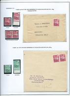 PREOBLITERE - TYPE COQ - étude Sur Le 12 F. + 24 F . - 1953-1960