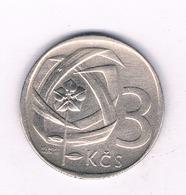3 KORUN 1966  TSJECHOSLOWAKIJE /4018/ - Tschechoslowakei
