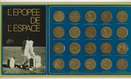 Pièces Publicitaires Shell, En Présentoir (années 70) Collection Complète. Epopée De L'espace. - Publicidad