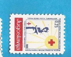 1 BENEF- ROT KREUZ KROCE ROSSA    JUGOSLAVIJA    MNH - Rotes Kreuz