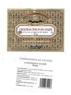 Etiquette De Vin - Chateauneuf Du Pape - Commanderie De Vaudieu - 1991 - Rouges