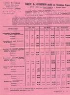 BAREME COTISATIONS SOCIALES AGRICOLES DE L EURE 27 1960 BETTERAVIERS BETTERAVES - Decrees & Laws