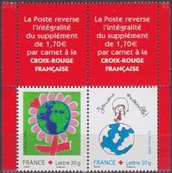 """FR YT P3991 La Paire """" Croix-Rouge  """" 2006 Neuf** BDF - France"""