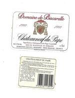 Etiquette De Vin - Chateauneuf Du Pape - Domaine De Biscarelle - 1992 - Rouges