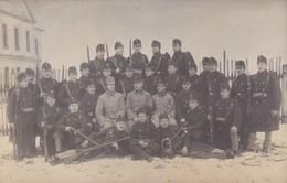 Carte Photo Militaria , Surement Autriche ,ou Autre Husova,trida ?? Imprimé Au Dos - Photographie