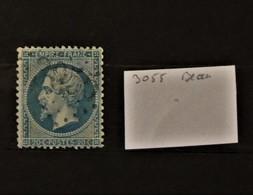 05 - 20 // France N° 22 Oblitération GC 3055 - Querigut - Ariege - Indice 15 - 1862 Napoléon III