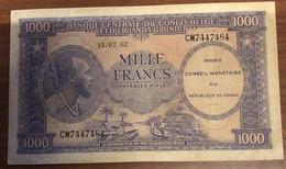 Congo Belga Ruanda Urundi 1000 Francs 1962 Pick#2 LOTTO 2379 - Congo