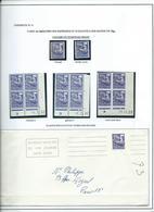 PREOBLITERE - TYPE COQ - étude Sur Le 00.8 F. - 1953-1960