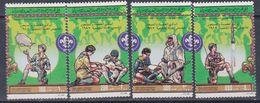 Libye N° 1013 / 16 XX 75è Anniversaire Du Scoutisme, Les 4 Valeurs Détachées Sans Charnière, TB - Libyen