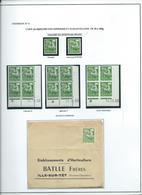 PREOBLITERE - TYPE COQ - étude Sur Le 0.20 F. - 1953-1960