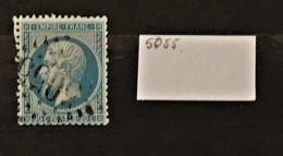 05 - 20 // France N° 22 Oblitération GC 5055 - Philippeville - Constantine - Algérie - 1862 Napoléon III