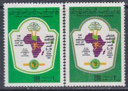 Libye N° 1023 / 24 XX 13è Coupe D'Afrique Des Nations De Football, Les 2 Valeurs Sans Charnière, TB - Libyen