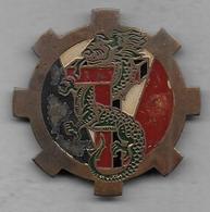 Train De La 3e D.I.C. - Insigne Peint Fabrication Locale Extrème Orient - Hueste