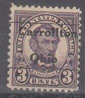 USA Precancel Vorausentwertung Preo, Locals Ohio, Carrollton 635-L-6 TS - United States