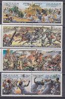 Libye N° 1072 / 79 XX Commémoration De Batailles ( VIII) , Les 8 Valeurs Se Tenant 2 Par 2 Sans Charnière, TB - Libyen