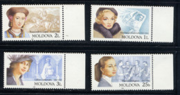 MOLDAVIE MOLDOVA 2001, Femmes Célèbres Dont M. Dietrich, 4 Valeurs, Neufs / Mint. R1396 - Moldawien (Moldau)
