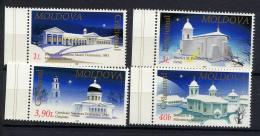 MOLDAVIE MOLDOVA 2001, NOEL / CHRISTMAS, EDIFICES RELIGIEUX, 4 Valeurs, Neufs / Mint. R1434 - Moldawien (Moldau)