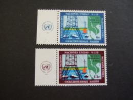 UN NEW YORK. 1970  MI 222/23 WITH LABEL MNH ** (VN-IND-03-TVN) - New York -  VN Hauptquartier