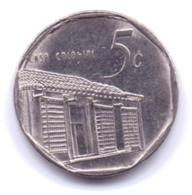 CUBA 2000: 5 Centavos, KM 575 - Cuba