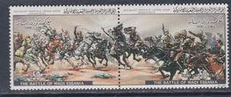Libye N° 1203 / 04 XX Commémoration De Batailles (XV) , Les 2 Valeurs Se Tenant 2 Sans Charnière, TB - Libyen