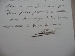 Sénat 186? Doret Ancien Gouverneur De L'île Bourbon Réunion LAS Autographe Signée Affaires - Autografi