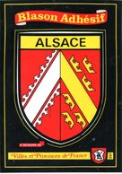 FRANCE. Carte Postale Neuve. Blason Adhésif De L'Alsace. - Alsace
