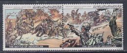 Libye N° 1232 / 33 XX Commémoration De Batailles (XVIII) , Les 2 Valeurs Se Tenant 2 Sans Charnière, TB - Libyen