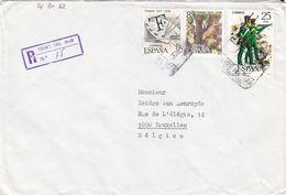 Espagne - Lettre Recom De 1978 - Oblit Torre Del Mar - Cachet De Malaga - 1931-Hoy: 2ª República - ... Juan Carlos I