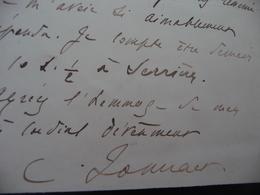 C.Jonnart Chambre Des Député Gouverneur Algérie   LAS Autographe Signée Invitation - Autographs