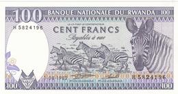 BILLET 100 FRANCS BANQUE NATIONALE DU RWANDA - Rwanda