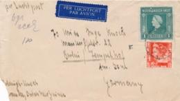 Nederlands Indië - 1948 - Fl. 1,10 Frankering Op LP-cover Van LB MERAUKE Naar Berlin / Deutschland - Indes Néerlandaises