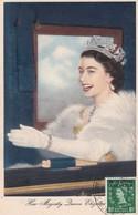 MAROC ANGLAIS Carte Maximum QUEEN Elisabeth II Yt 65 Tetuan 1954  Revenue Morocco Agencies Maximum Card Scan, Dos A Voir - Morocco Agencies / Tangier (...-1958)